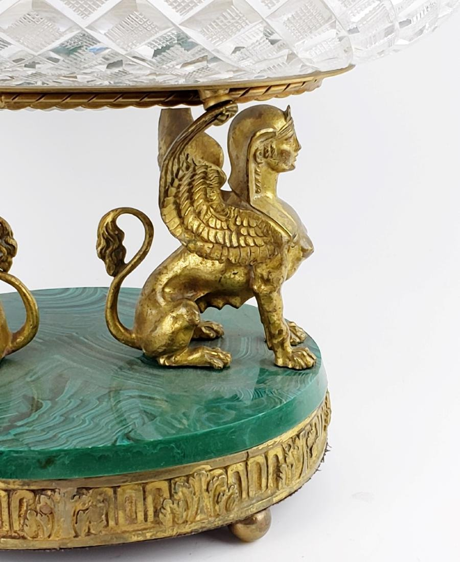 Bronze Crystal and Malachite Centerpiece - 4