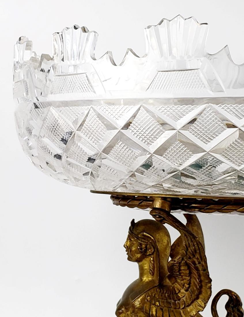 Bronze Crystal and Malachite Centerpiece - 5