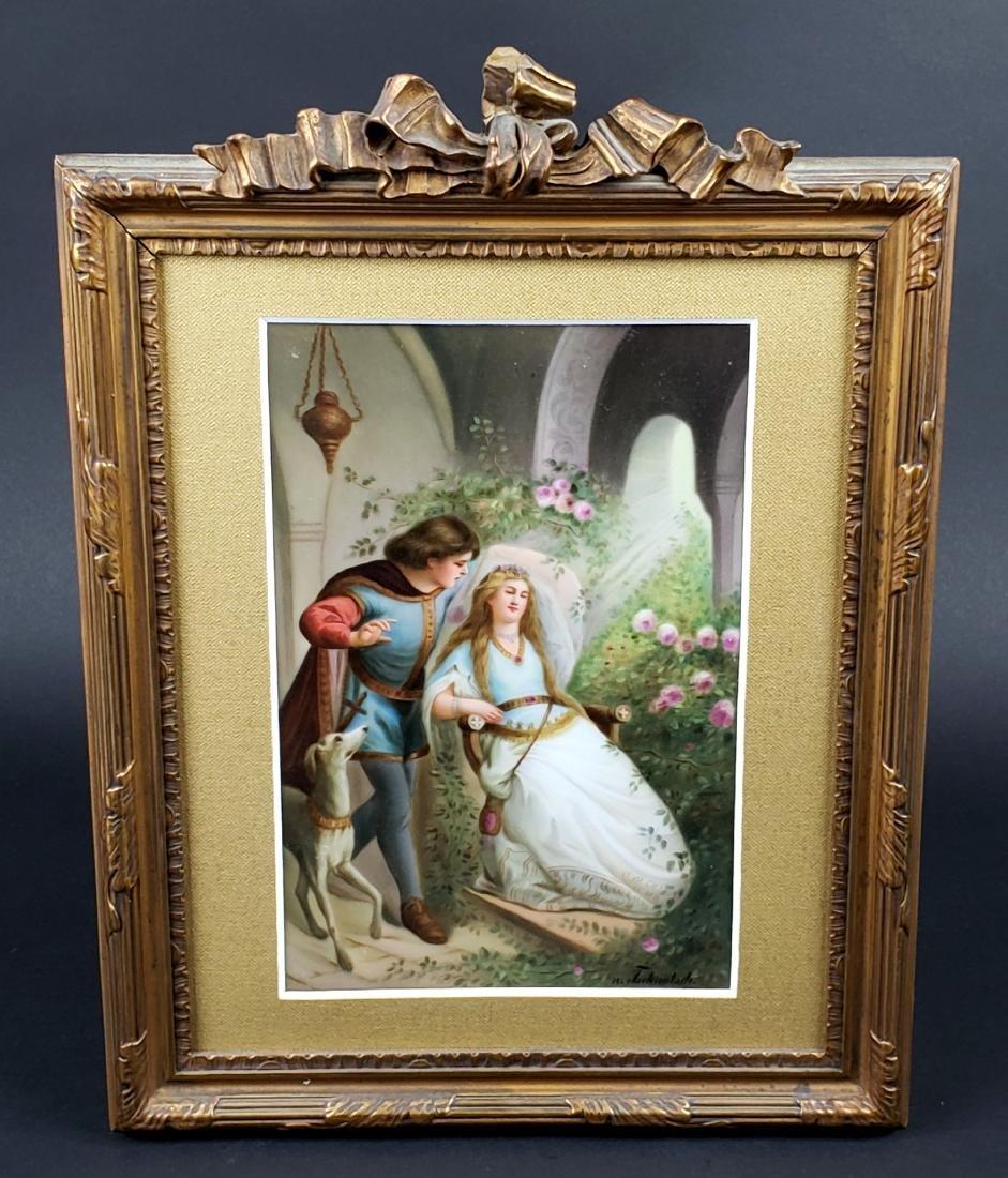 19th C. German Porcelain Plaque Signed