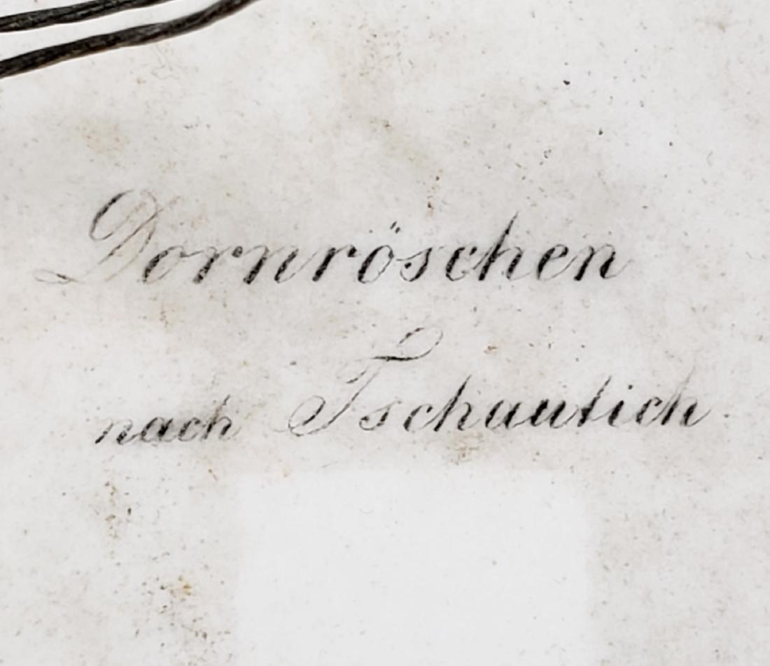 19th C. German Porcelain Plaque Signed - 5