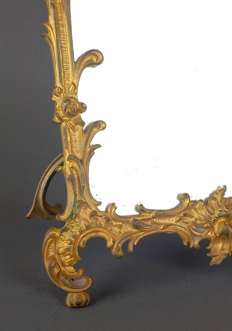 19th C. French Gilt Bronze Mirror - 3