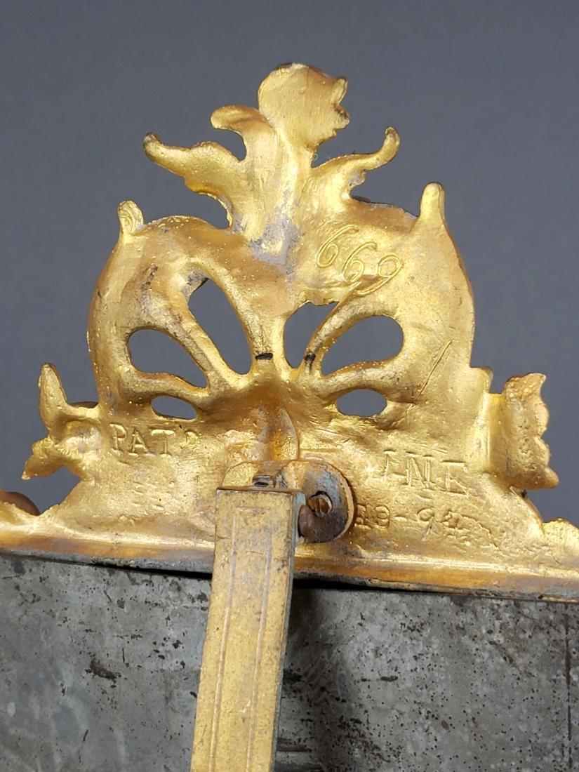 19th C. French Gilt Bronze Mirror - 5