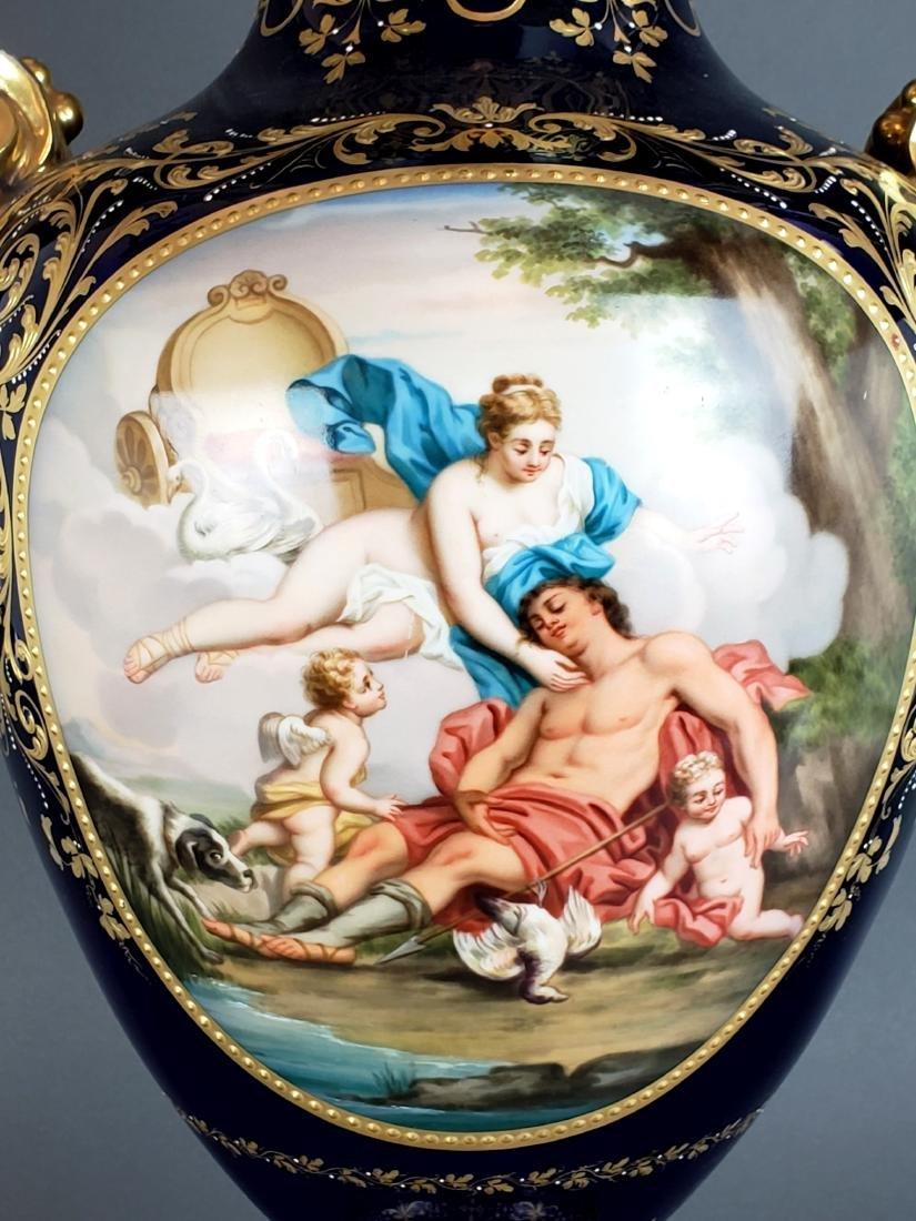 Large 19th C. Royal Vienna Porcelain Vase w/ Cover - 4