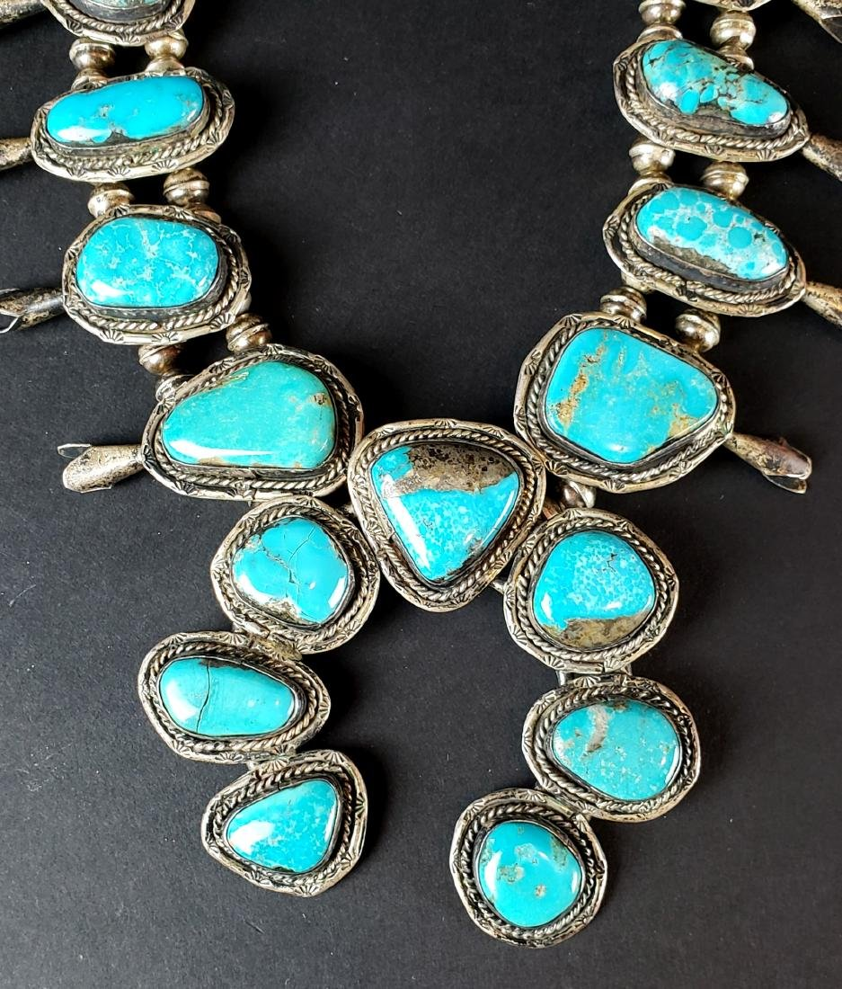 American Indian Silver & Turquoise Necklace - 2