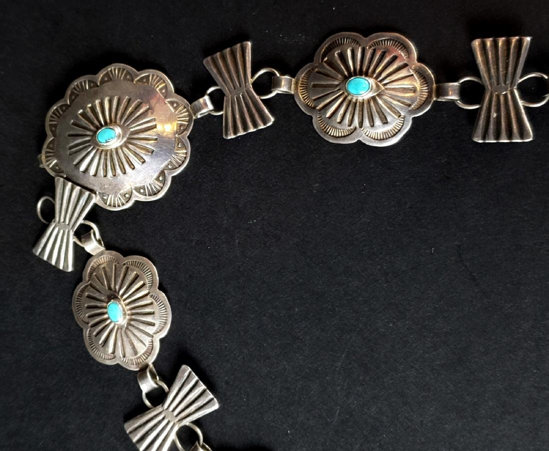 American Indian Silver & Turquoise Necklace - 3