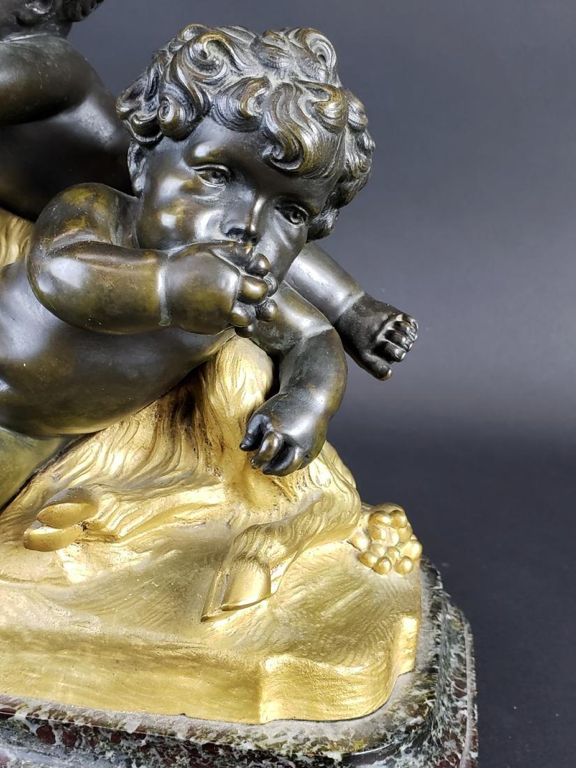 19th C. La Rue Signed Gilt & Patinated Bronze Figure of - 3
