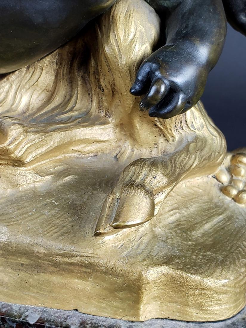 19th C. La Rue Signed Gilt & Patinated Bronze Figure of - 4