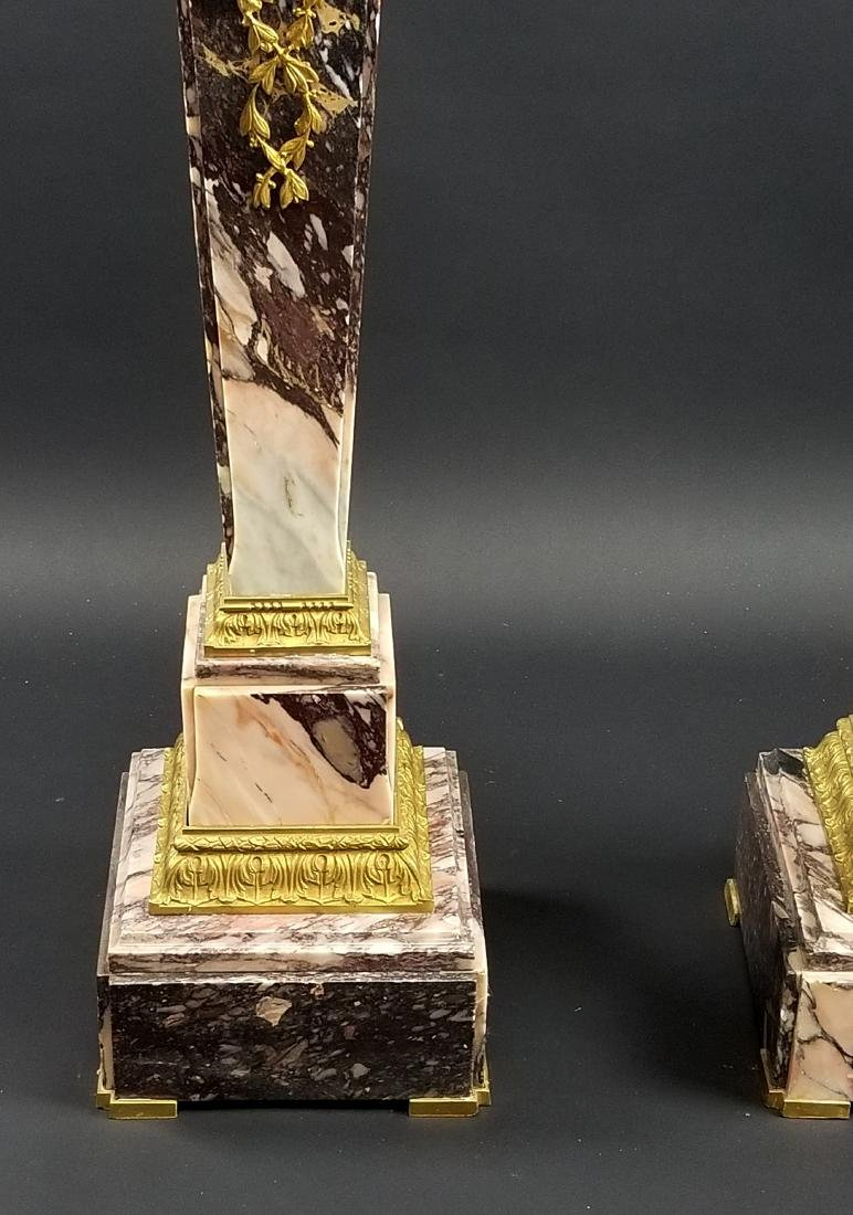 Late 19th C. French Pair of Gilt Bronze Mounted Breche - 3