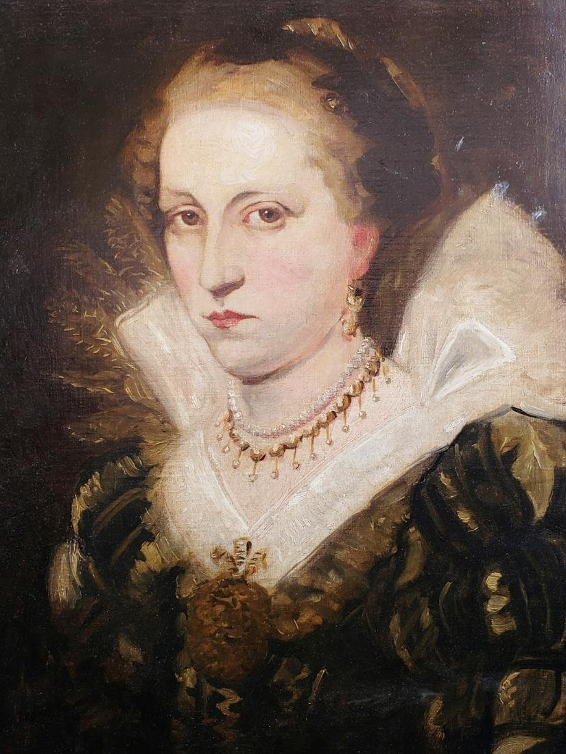 Oil Painting on Canvas of a Nobel of a Lady Signed A. - 2