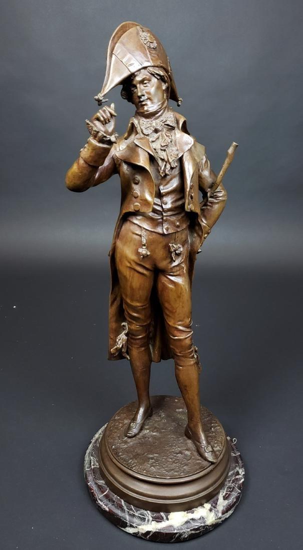 Edward Cormier Signed Elegant Patinated Bronze w/
