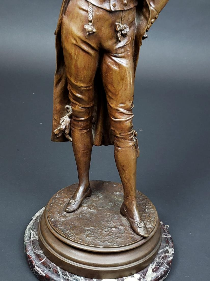 Edward Cormier Signed Elegant Patinated Bronze w/ - 3