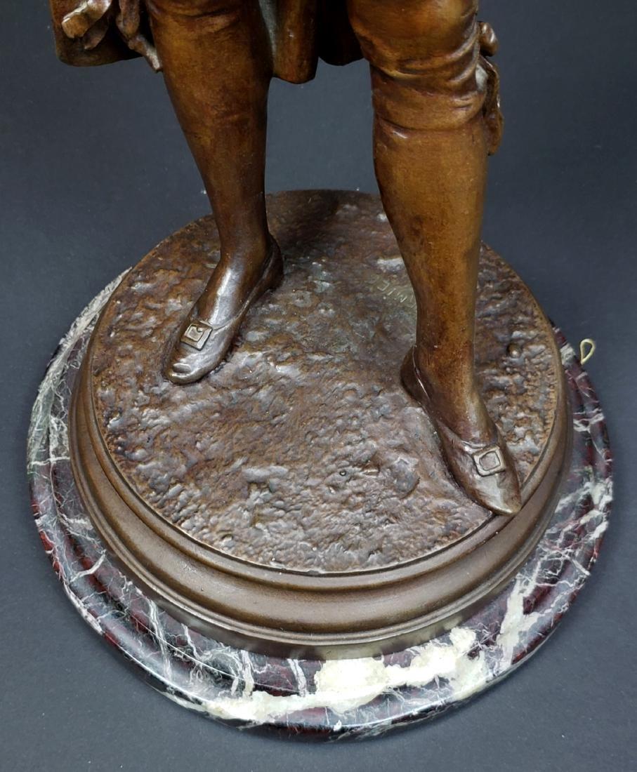 Edward Cormier Signed Elegant Patinated Bronze w/ - 4