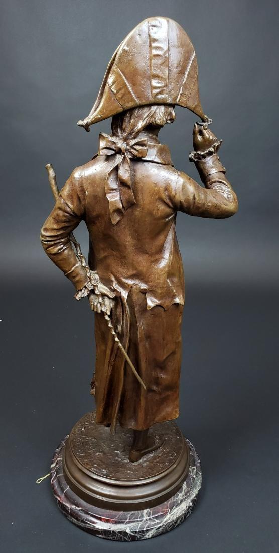 Edward Cormier Signed Elegant Patinated Bronze w/ - 5