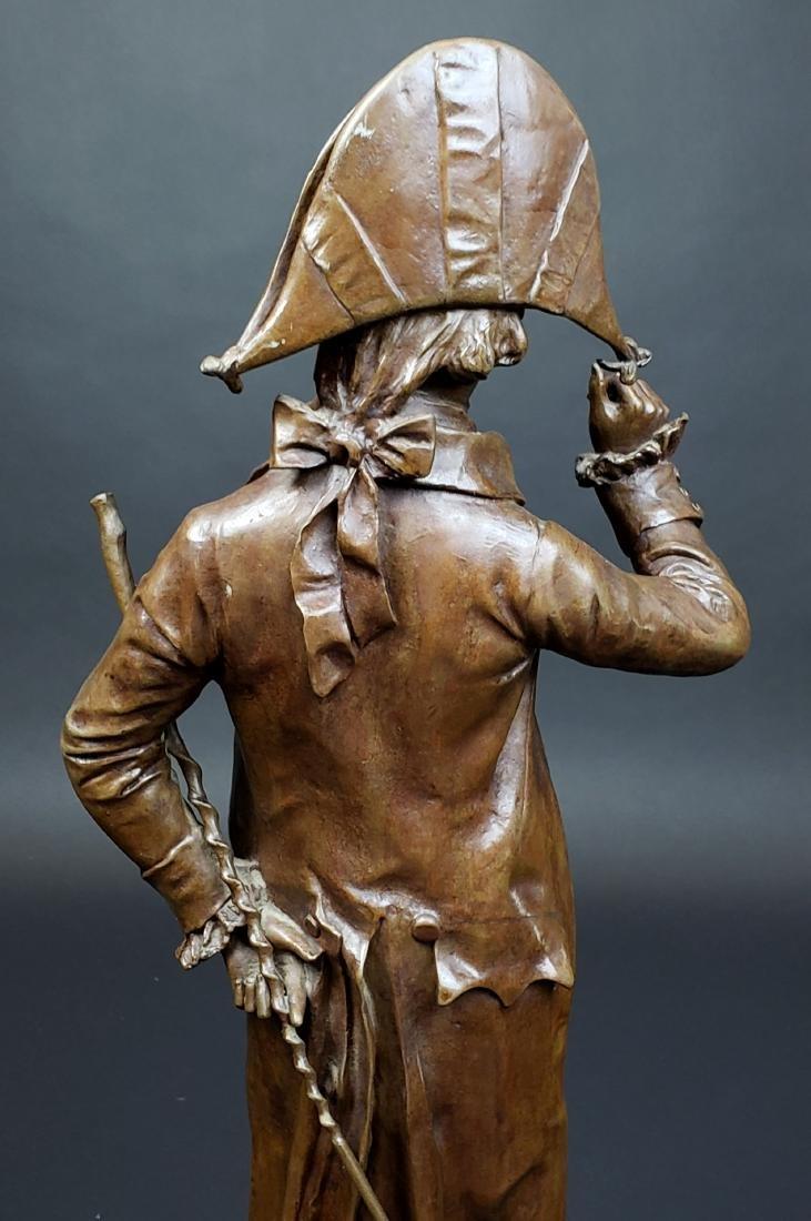Edward Cormier Signed Elegant Patinated Bronze w/ - 6