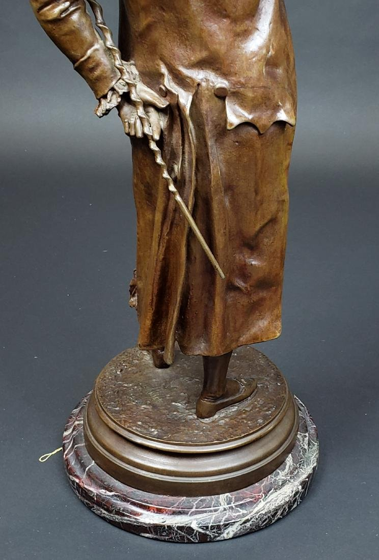 Edward Cormier Signed Elegant Patinated Bronze w/ - 7