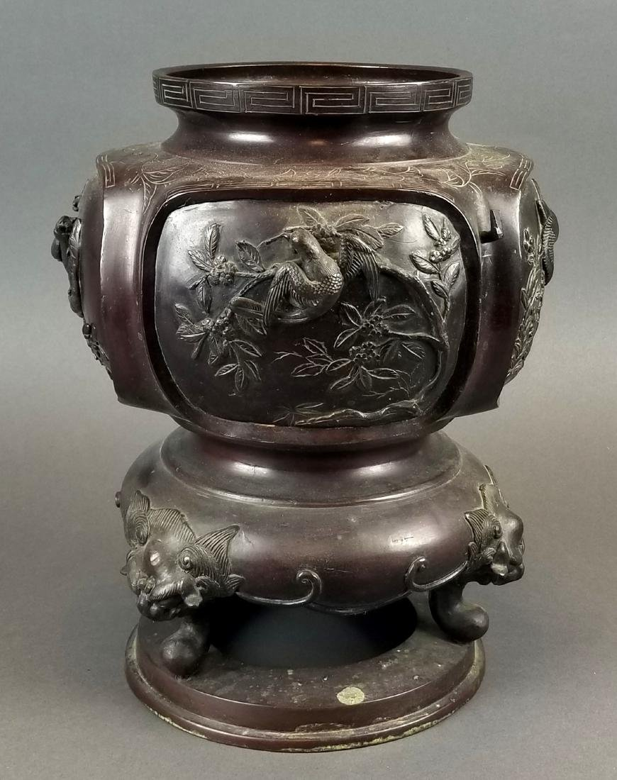 19th C. Japanese Meiji Period Bronze Vase