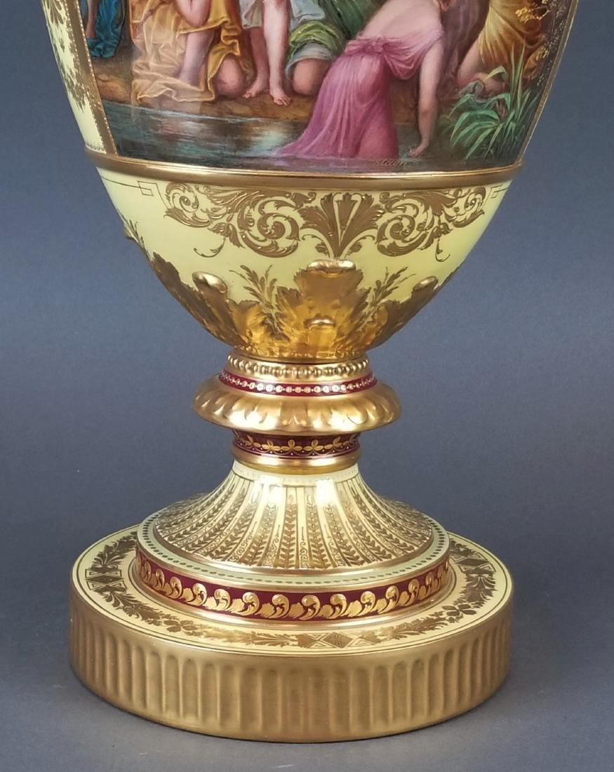 Large 19th C. Royal Vienna Hand Painted Vase - 3