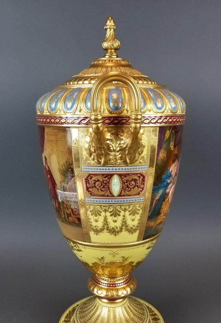 Large 19th C. Royal Vienna Hand Painted Vase - 5