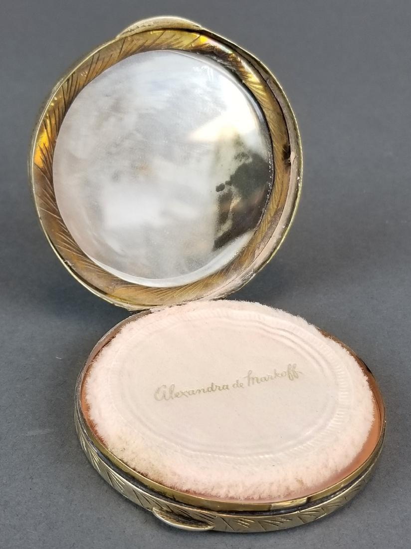 19th C. Feench Enamel on Silver Powder Box - 2