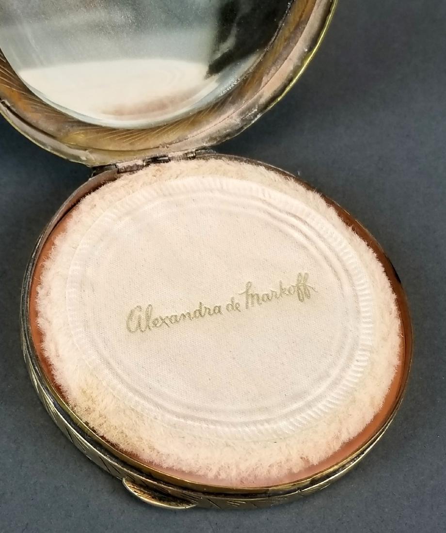 19th C. Feench Enamel on Silver Powder Box - 3