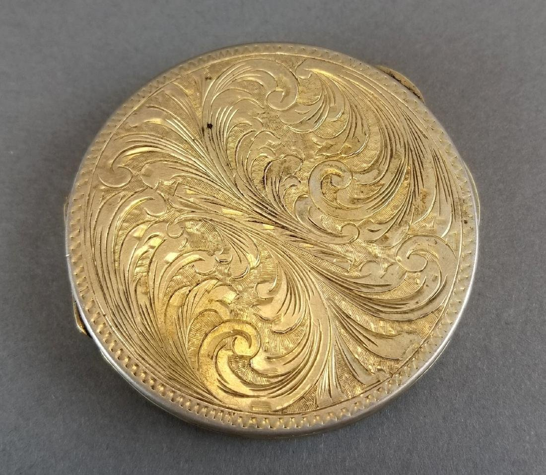 19th C. Feench Enamel on Silver Powder Box - 4
