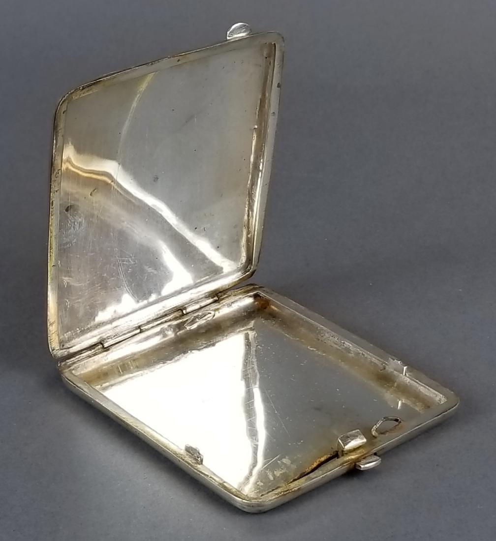 Persian Ahvaz Silver Hand Engraved Cigarette Case - 4
