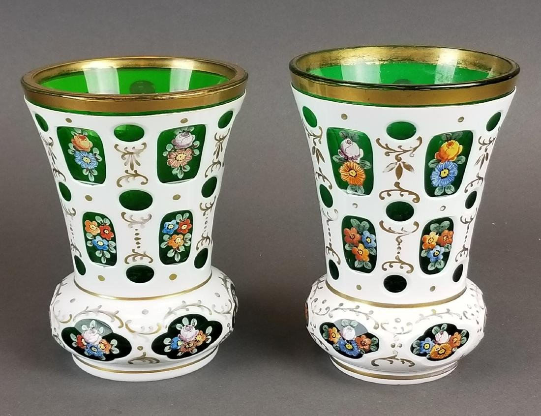 Pair of Bohemian Vases