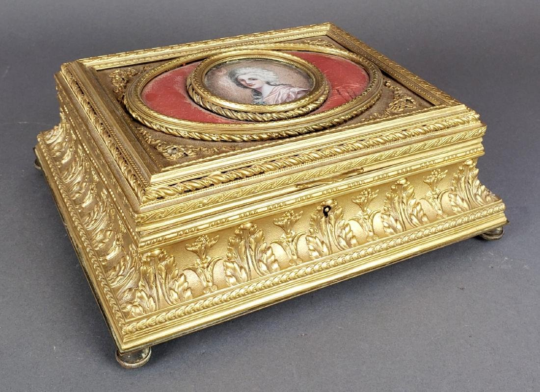 19th C. French Bronze Jewelry Box