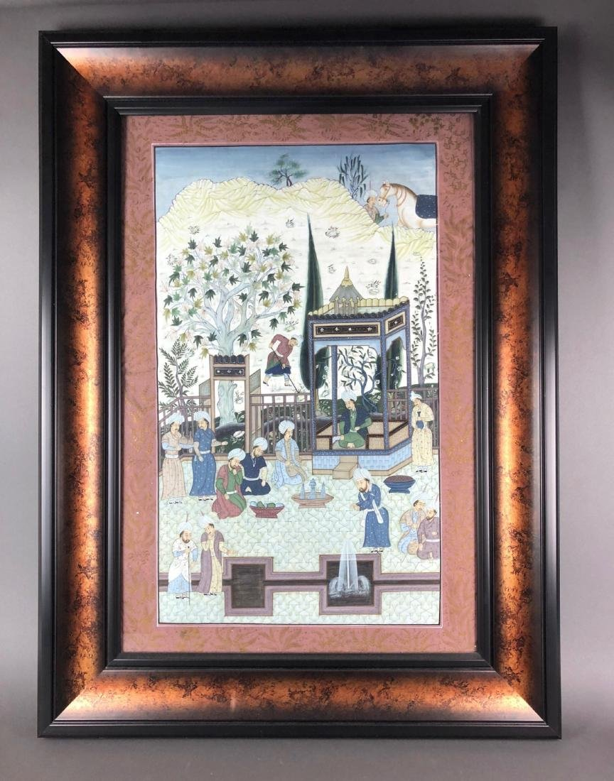 Large Framed Persian Miniature Painting