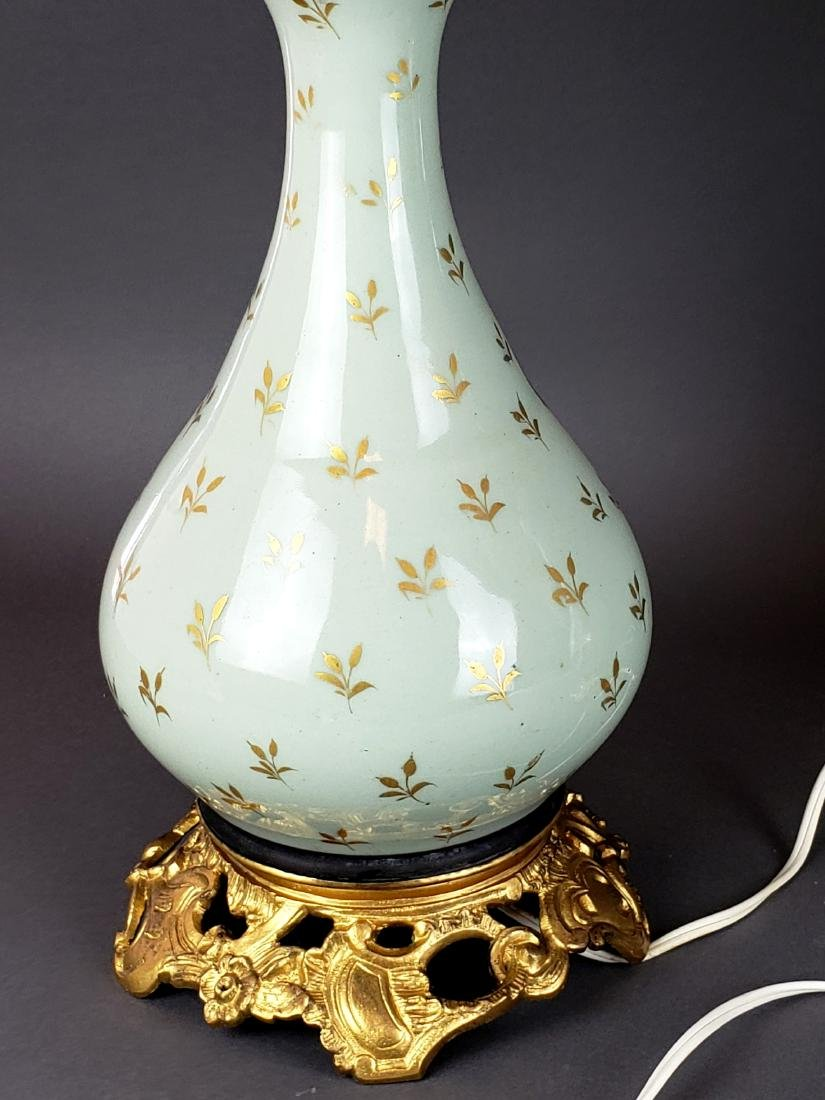 Pair of French Sevres Porcelain & Bronze Lamps, 19th C. - 5