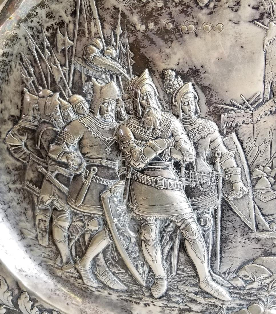 Late 18th C. European Sterling Silver Figural Tray - 4