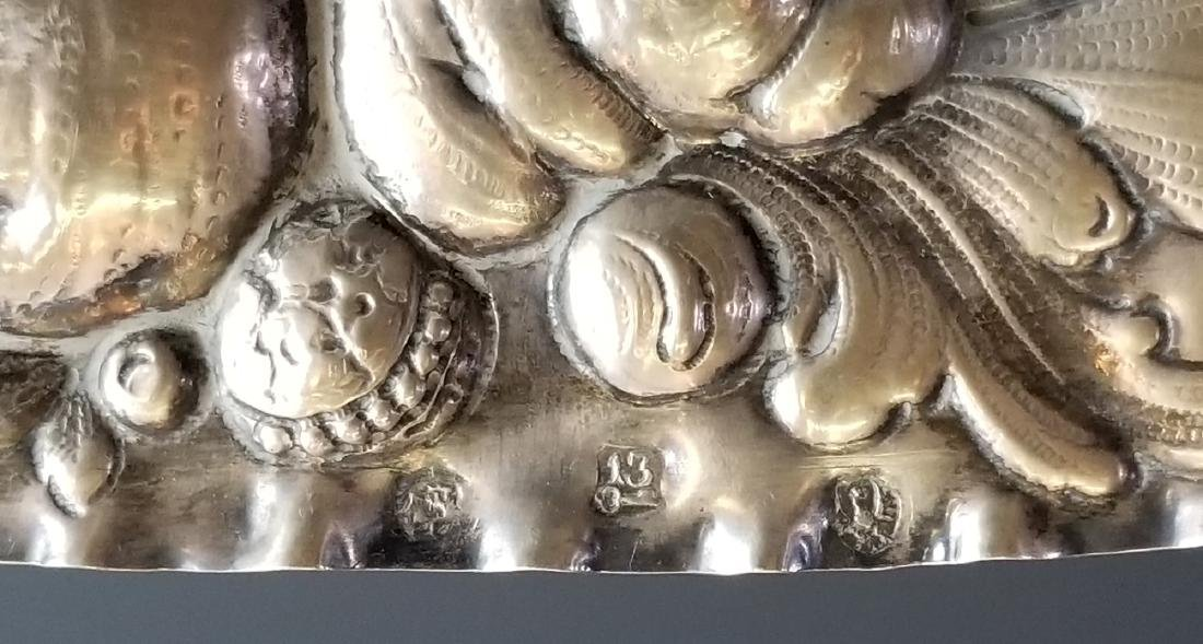 Late 18th C. European Sterling Silver Figural Tray - 6