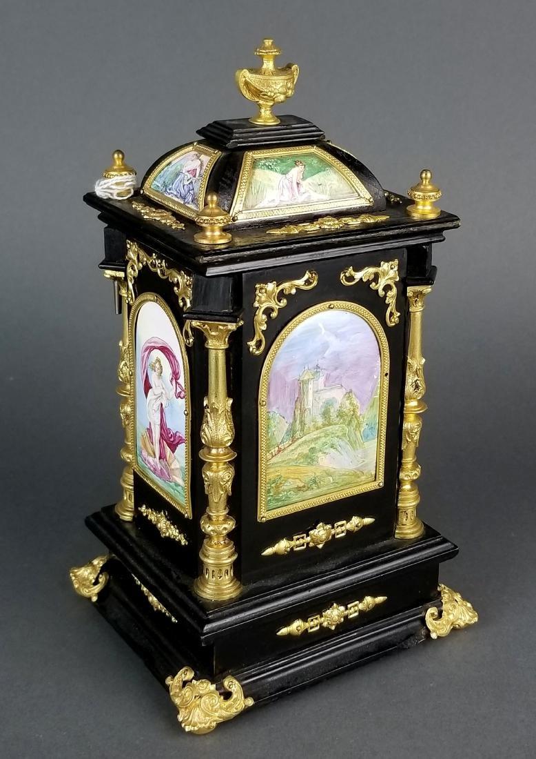 19th C. Large Austrian Viennese Enamel Clock - 6
