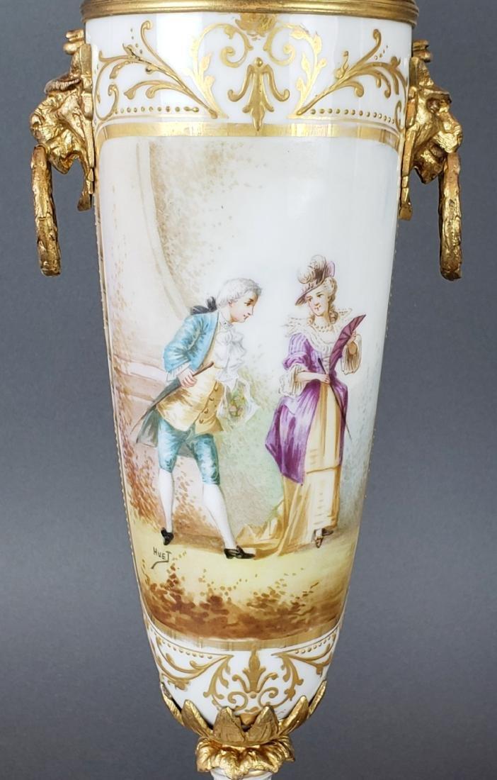 Pair of French Sevres Porcelain & Bronze Vases - 2