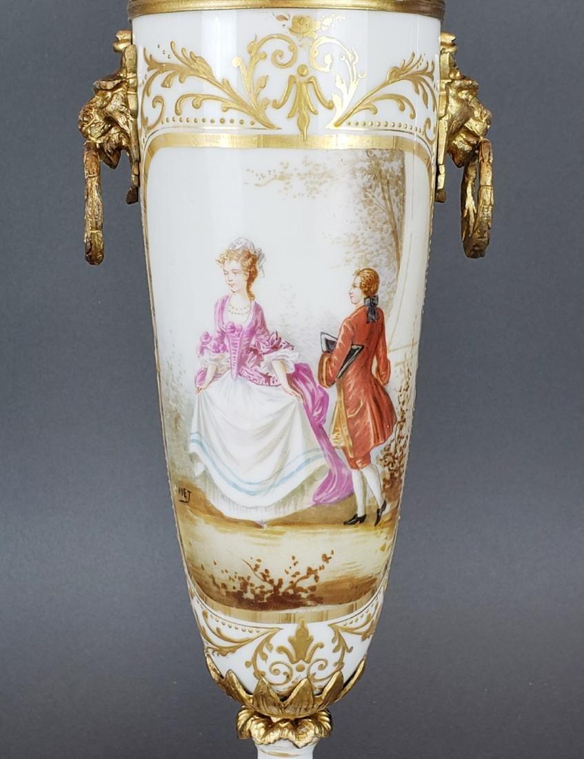 Pair of French Sevres Porcelain & Bronze Vases - 3