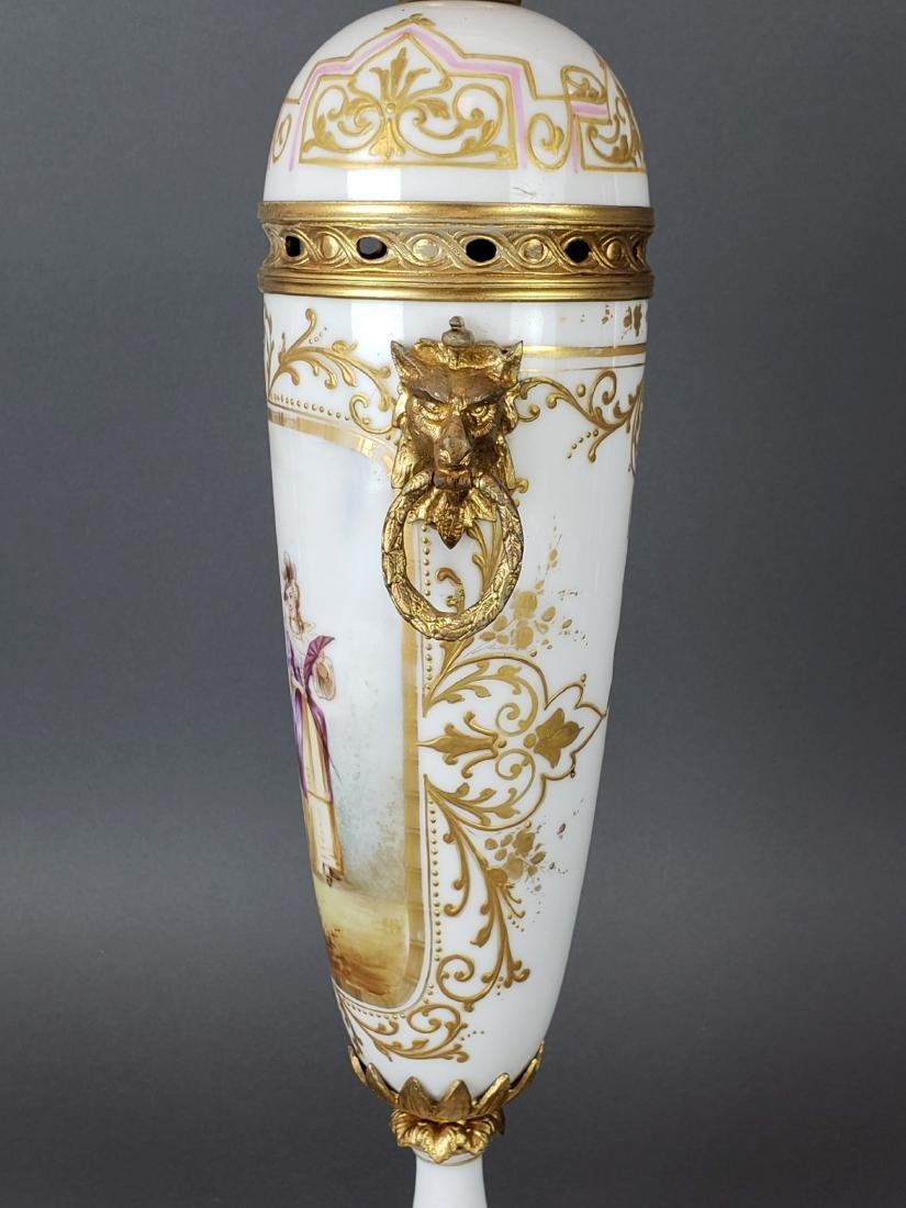 Pair of French Sevres Porcelain & Bronze Vases - 4