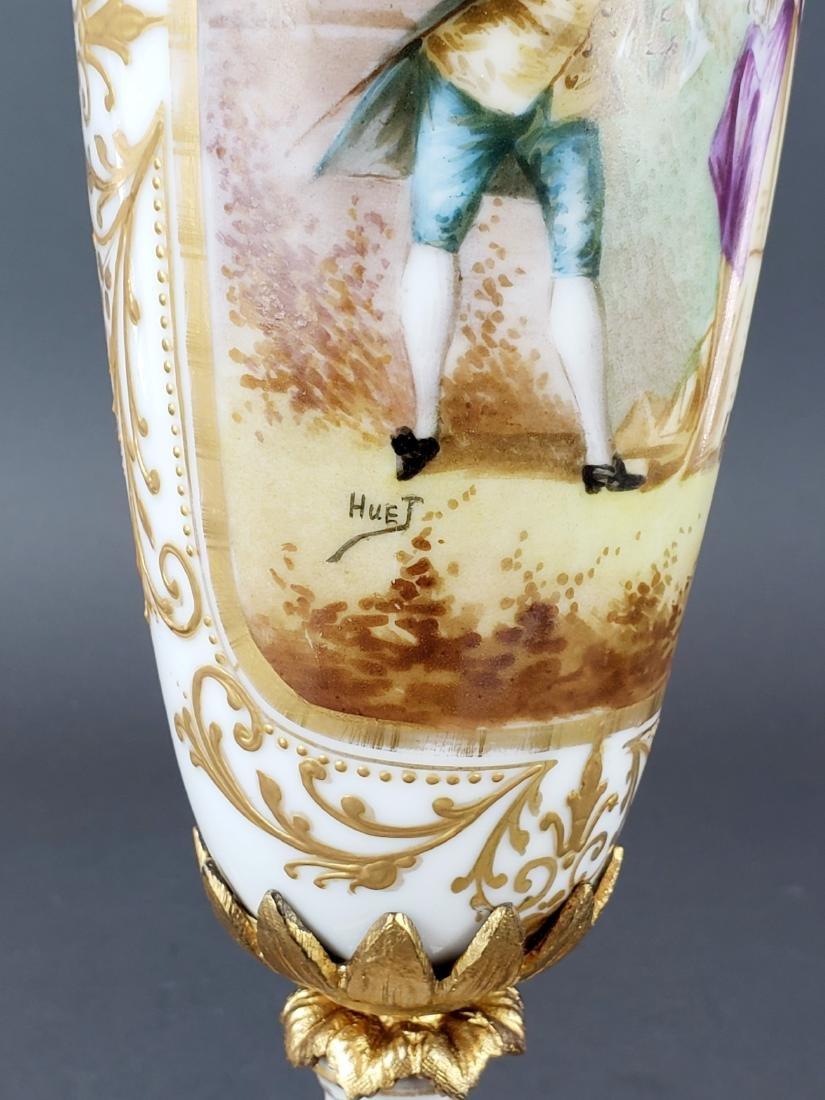 Pair of French Sevres Porcelain & Bronze Vases - 6