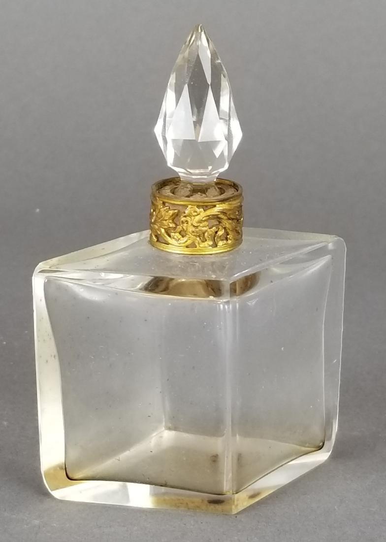 19th C. Bronze & Baccarat Perfume Bottles - 3