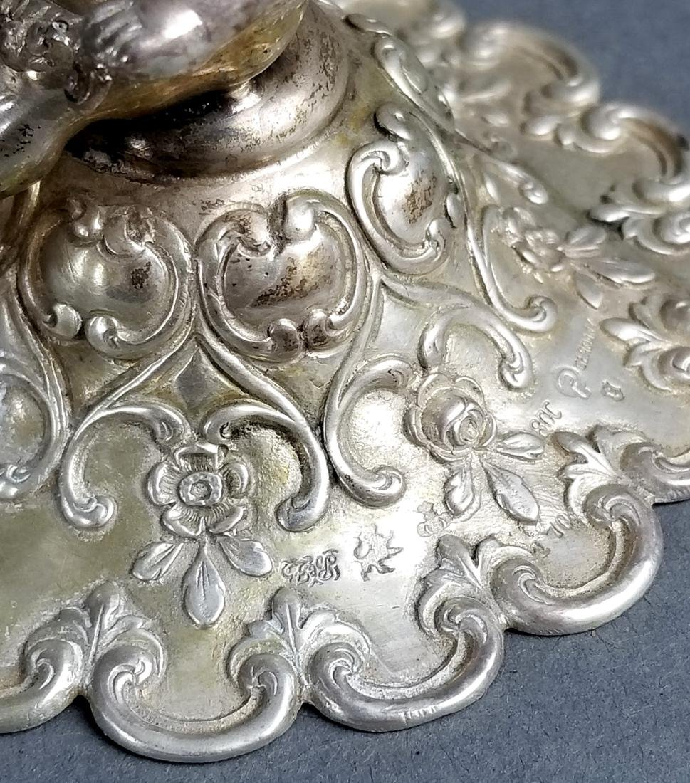 800 Figural Silver and Moser Candy Dish - 7