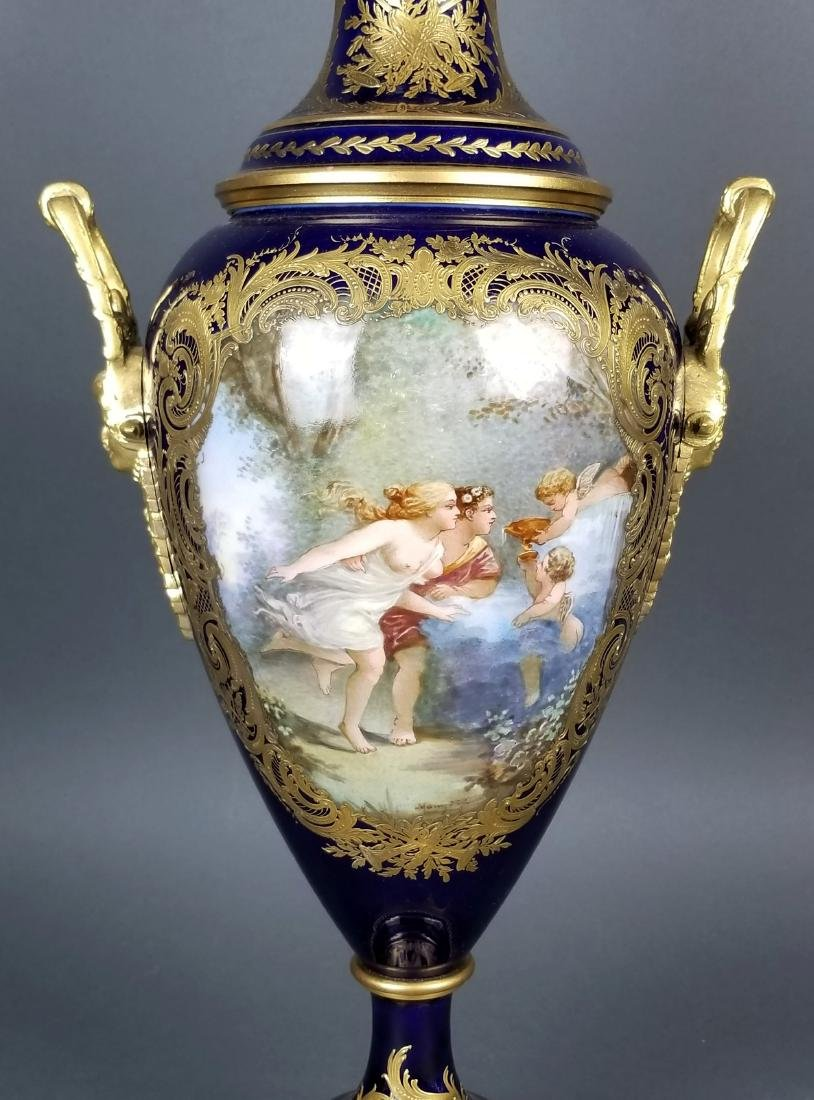 Pair of 19th C. Sevres Bronze and Porcelain Vases - 6