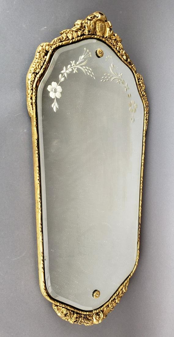 French Carved Wood Wall Mirror