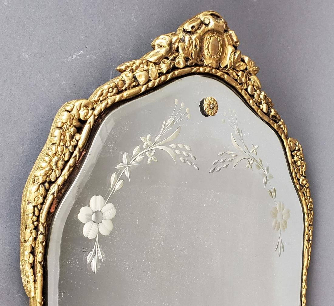 French Carved Wood Wall Mirror - 2