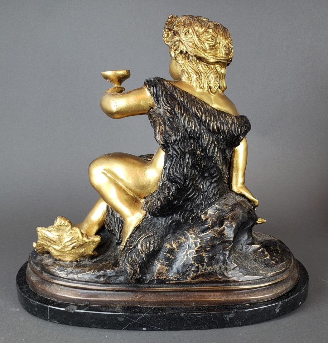 Pair of French Gilt & Patinated Bronze Figures of - 6