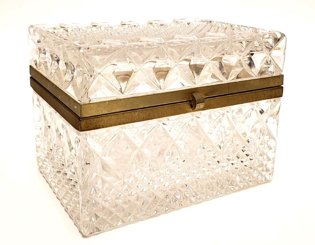 French Cut Crystal Jewelry Box