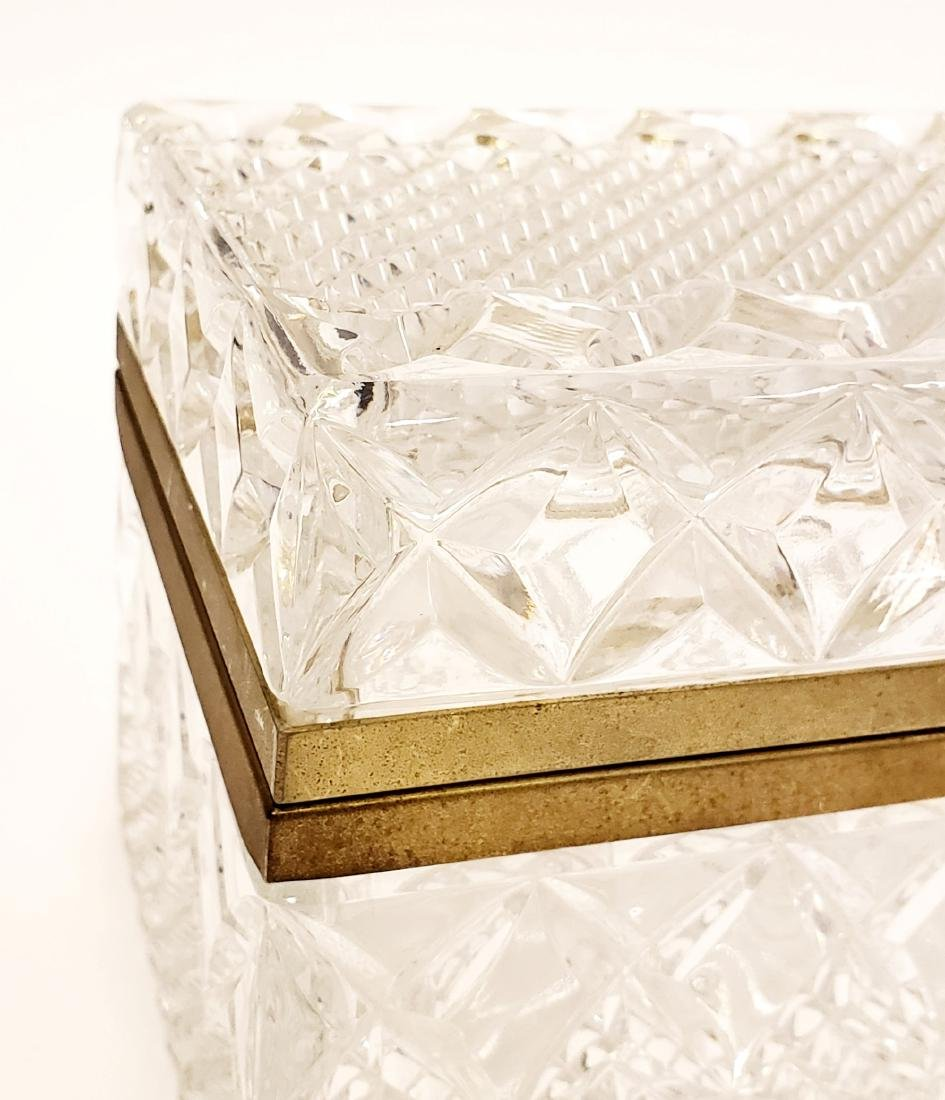 French Cut Crystal Jewelry Box - 2