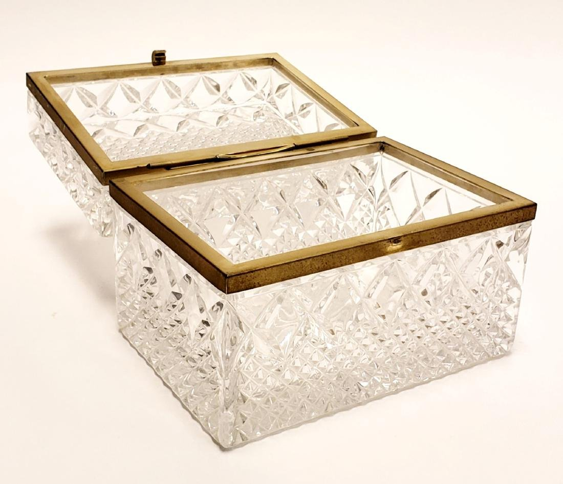 French Cut Crystal Jewelry Box - 3