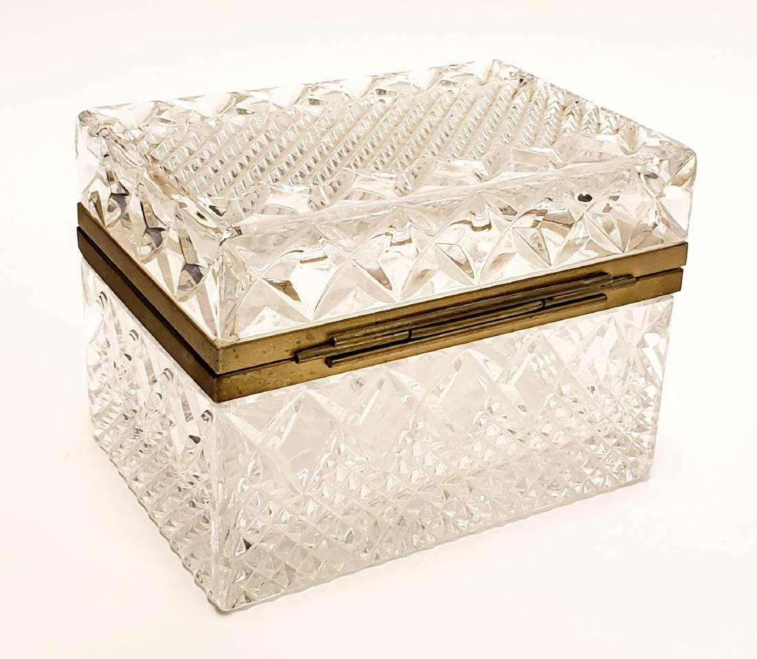 French Cut Crystal Jewelry Box - 4