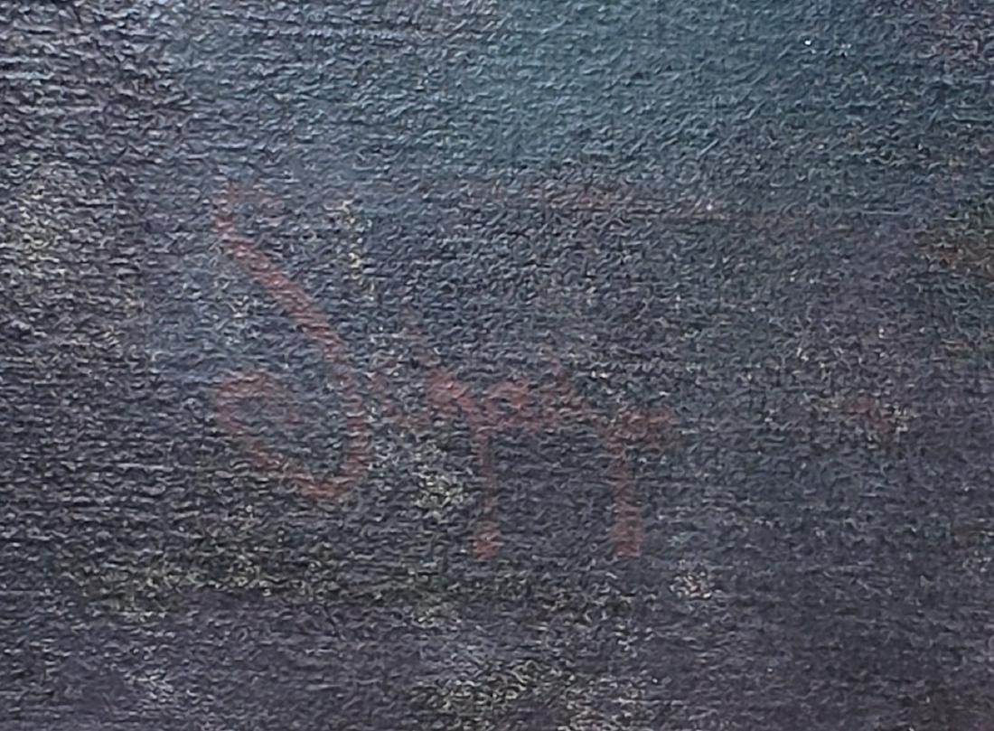Monumental Oil on Canvas of a Rabbi Signed - 5