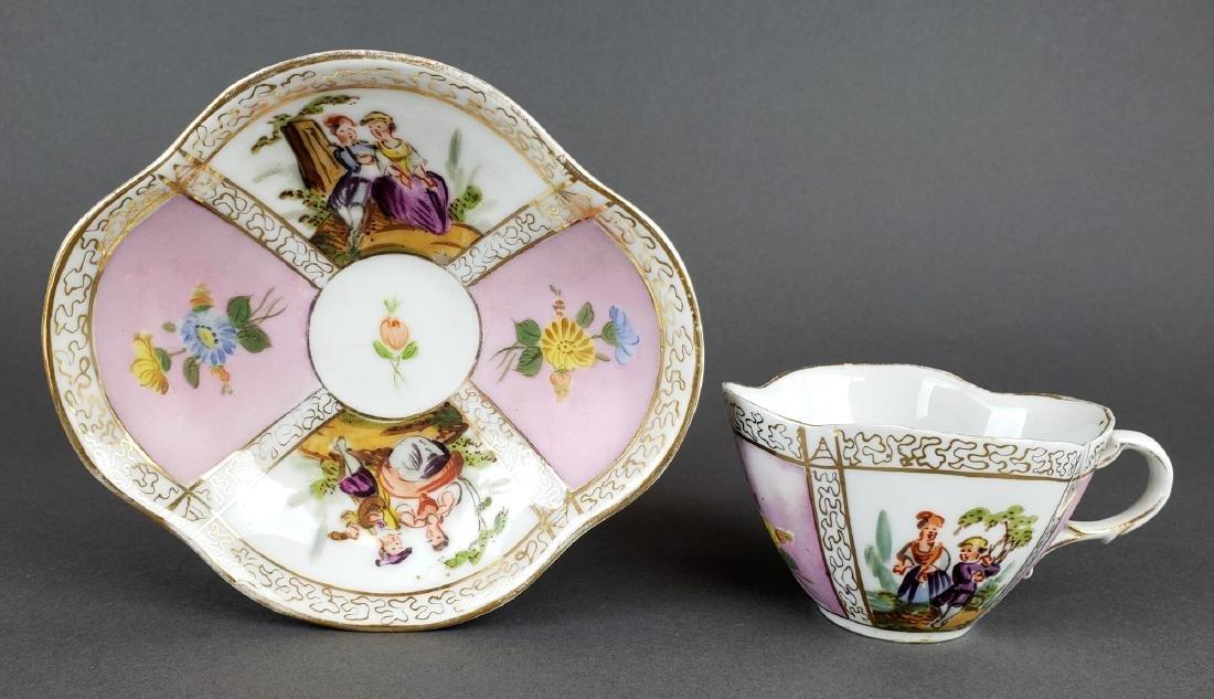 Dresden Porcelain Cup & Saucer