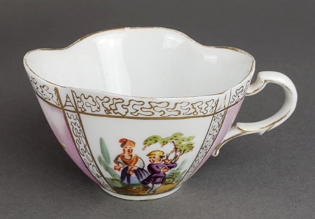 Dresden Porcelain Cup & Saucer - 4